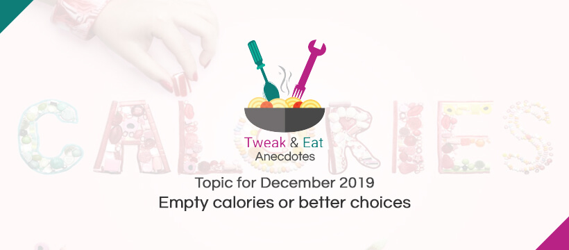 TweaK & Eat Anectodes Topic for December Empty calories or better choices